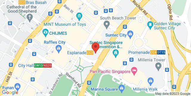 Map showing JW Marriott