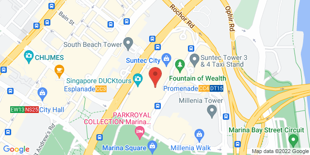Map showing The National University of Singapore Society