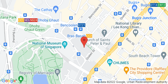 Map showing B3 Cafe By SMUAA