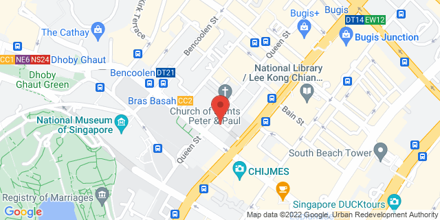 Map showing NTUC Trade Union House