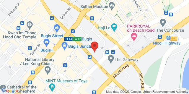 Map showing Andaz Singapore