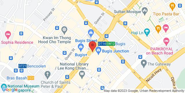 Map showing Bugis Junction