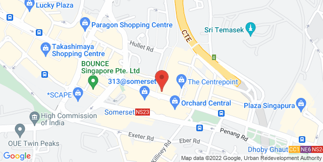 Map showing Peranakan Place