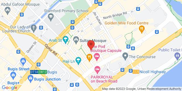 Map showing Kko Kko Chicken Bar