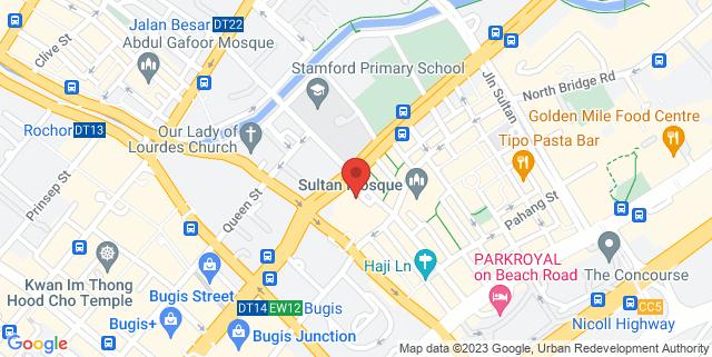 Map showing Red Velvet Hall