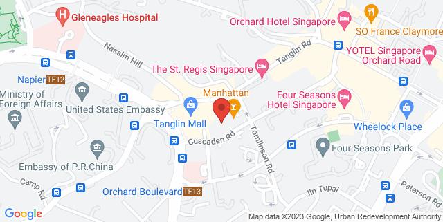 Map showing Regent Hotel