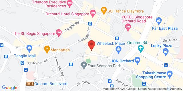 Map showing Four Season Singapore