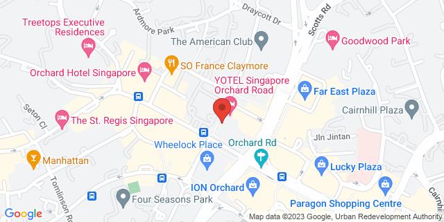 Map showing D'Underground Bar & Club