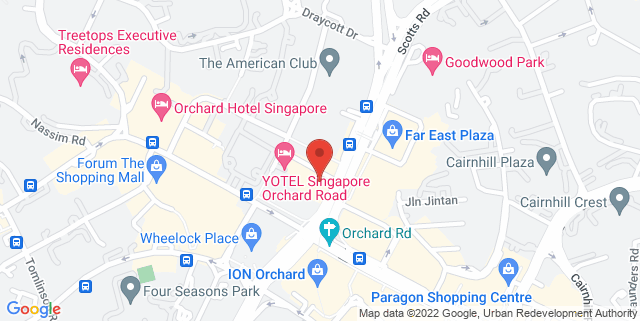 Map showing Ippudo Singapore