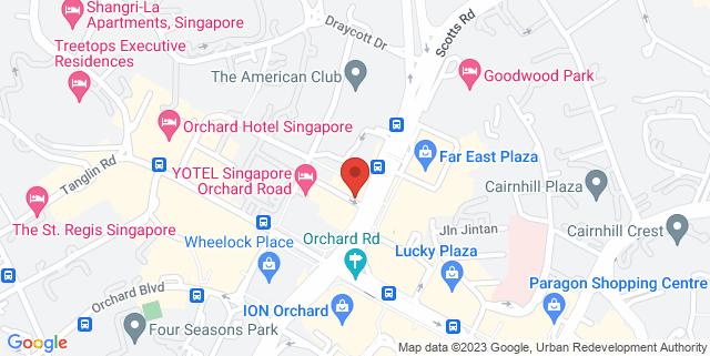 Map showing Jesselton Dental Centre
