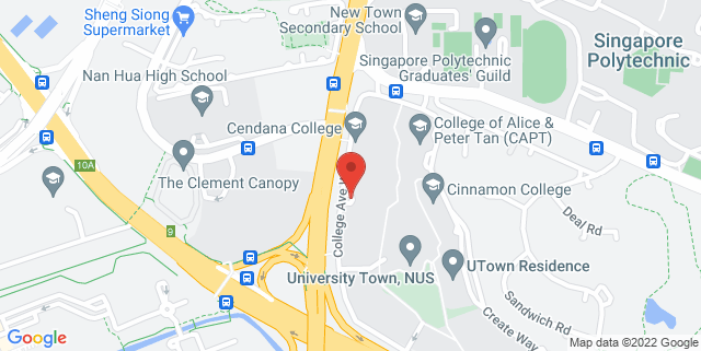 Map showing Yale-NUS College