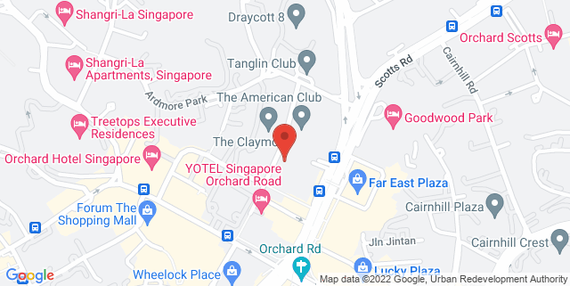 Map showing 8 Claymore Hill