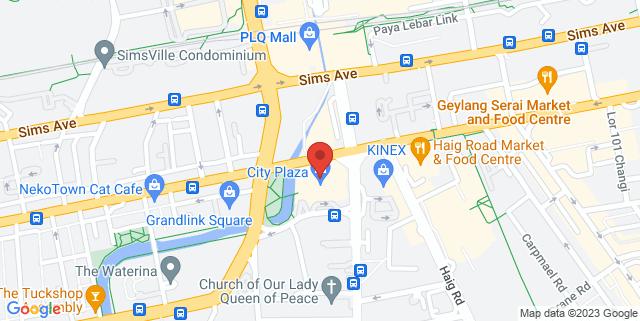 Map showing City Plaza Singapore