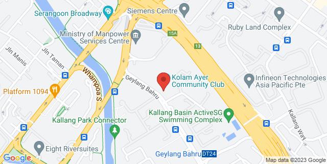 Map showing Kolam Ayer Community Club
