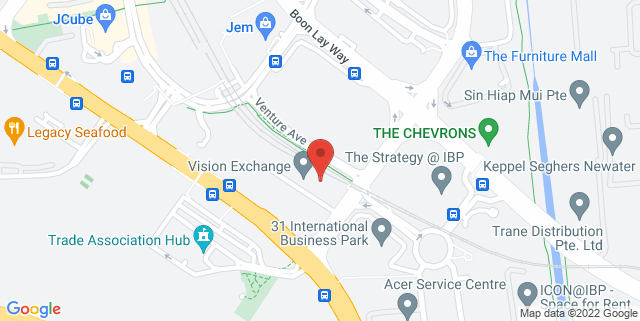 Map showing Vision Exchange