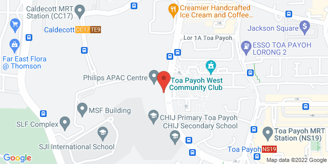 Map showing Philips APAC Centre