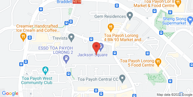 Map showing Jackson Square
