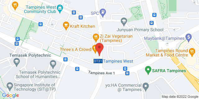 Map showing Our Tampines Hub