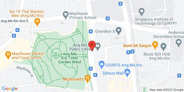 Map showing I Can Read Ang Mo Kio
