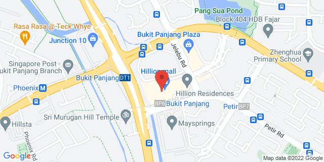 Map showing Hillion Mall