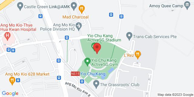 Map showing Yio Chu Kang Stadium