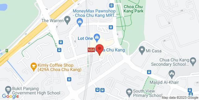 Map showing Keat Hong Community Club