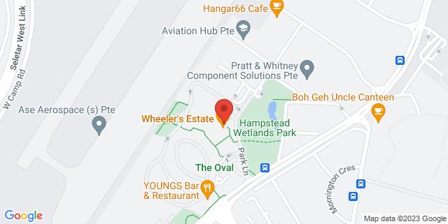 Map showing Wheeler's Estate