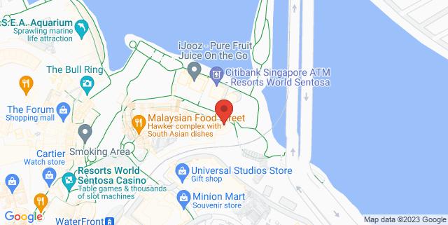 Map showing Trick Eye Museum