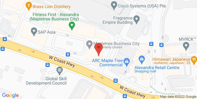 Map showing Mapletree Business City
