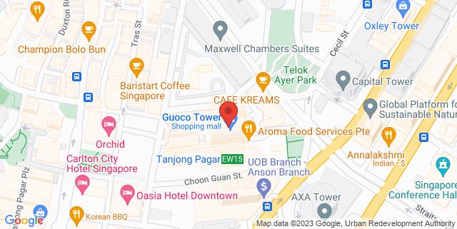 Map showing Tanjong Pagar Centre