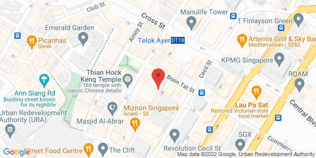 Map showing Kitchen By Food Rebel