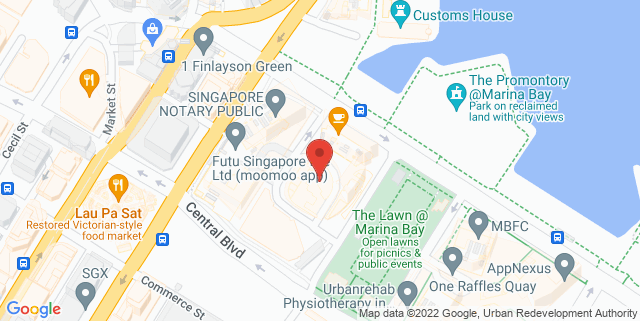 Map showing Hooters
