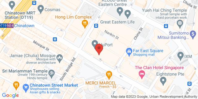 Map showing A&J Creative Danceworld