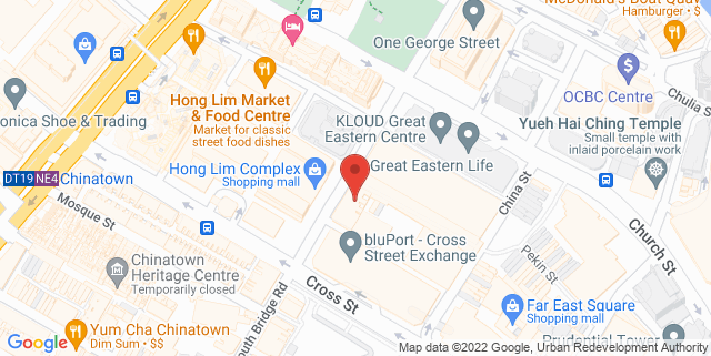 Map showing WeWork – 22 Cross St