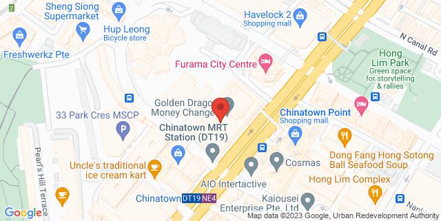 Map showing People's Park Centre