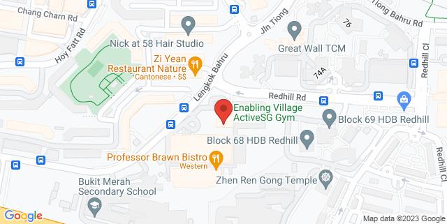 Map showing Professor Brawn Bistro