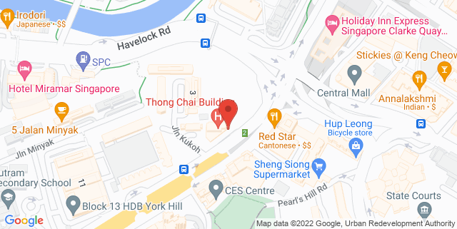 Map showing Thong Chai Building