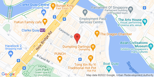 Map showing Move Academy Singapore