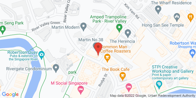 Map showing PS.Cafe Martin Road