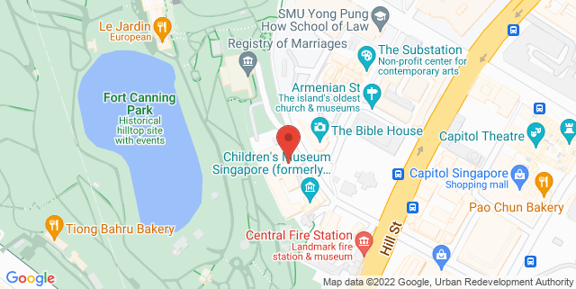 Map showing National Archives of Singapore