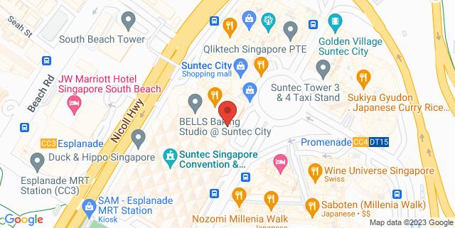 Map showing Suntec City Guild House - NUSS