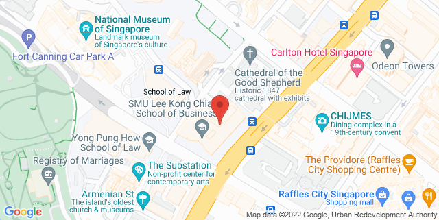 Map showing Lee Kong Chian School of Business