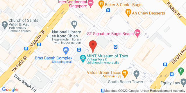 Map showing TRT Academy Learning Centre