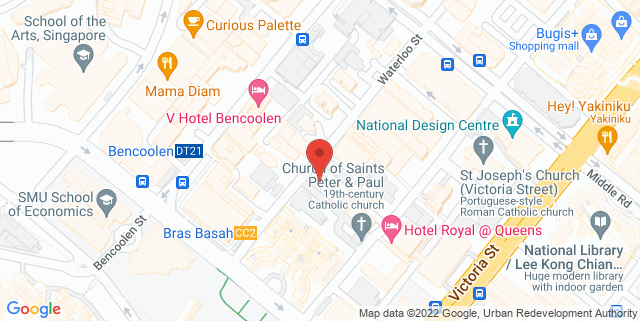 Map showing EV Dance Studio