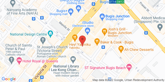 Map showing InterContinental Singapore