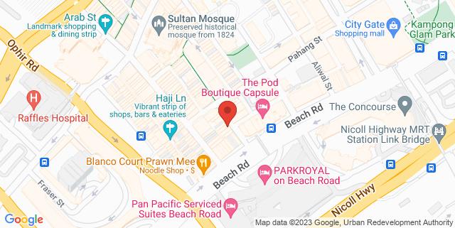 Map showing Funbie Studios