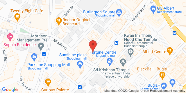 Map showing Ginett Restaurant and Wine Bar