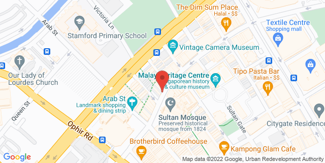 Map showing The Yoga Co.