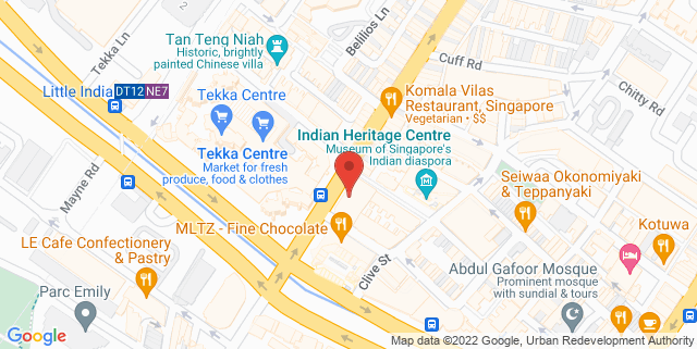 Map showing The Banana Leaf Apolo