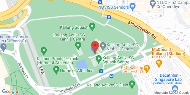 Map showing Kallang Practice Track